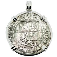 SOLD #9250 Golden Fleece Shipwreck 4 Reales Pendant; Please Explore Our Spanish Shipwreck Pendants For Similar Items.