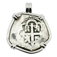 #9255 Rooswijk Shipwreck 4 Reales Pendant