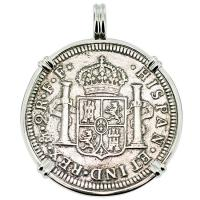 SOLD #9259 El Cazador Shipwreck 2 Reales Pendant; Please Explore Our Spanish Shipwreck Pendants For Similar Items.