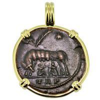 #9277 She Wolf & Roma Nummus Pendant