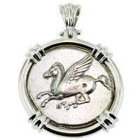 SOLD Pegasus & Athena Stater Pendant; Please Explore Our Greek Pendants For Similar Items.