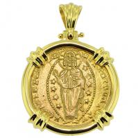 SOLD Jesus Christ Ducat Pendant; Please Explore Our Gold Coin Pendants For Similar Items.