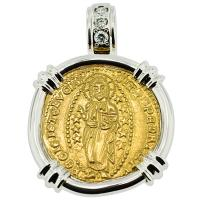 SOLD Jesus Christ Ducat Pendant; Please Explore Our Gold Coin Category For Similar Items.