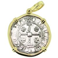 #9300 King Hugh IV Crusader Gros Pendant