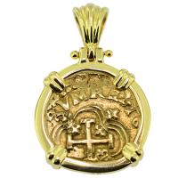 #9305 King Charles II One Escudo Pendant