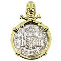 SOLD El Cazador Shipwreck 1 Real Pendant; Please Explore Our Spanish Treasure Pendants For Similar Items.