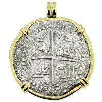 SOLD #9312 Atocha Shipwreck 8 Reales Pendant; Please Explore Our Spanish Shipwreck Pendants For Similar Items.