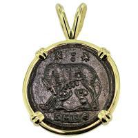 #9315 She Wolf & Roma Nummus Pendant