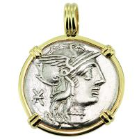 SOLD #9317 Roma and Victory Denarius Pendant; Please Explore Our Roman Pendants For Similar Items.