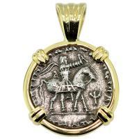 #9319 King Azes II Drachm Pendant