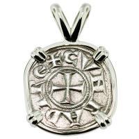 #9323 Crusader Cross Denaro Pendant