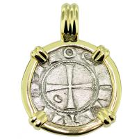 SOLD #9325 Crusader Cross Denier Pendant; Please Explore Our Medieval Pendants For Similar Items.