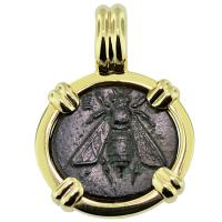 SOLD Bee & Stag Coin Pendant; Please Explore Our Greek Pendants For Similar Items.