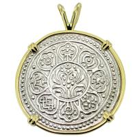 SOLD #9338 Tibetan Ga-Den Tanka Pendant; Please Explore Our Asian Pendants For Similar Items.