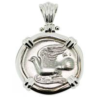 #9344 Sikyon Dove Triobol Pendant