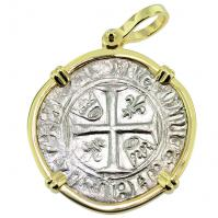 #9351 King Charles VI Blanc Guenar Pendant