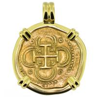 #9357 Philip II Two Escudos Doubloon Pendant