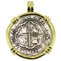 SOLD #9363 Atocha Shipwreck 2 Reales Pendant; Please Explore Our Spanish Shipwreck Pendants For Similar Items.