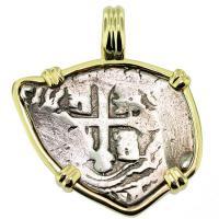 #9366 Spanish 1715 Fleet Shipwreck 1 Real Pendant