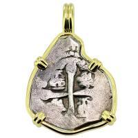 SOLD Spanish 1715 Fleet Shipwreck 1 Real Pendant; Please Explore our Spanish Shipwreck Pendants for Similar Items.
