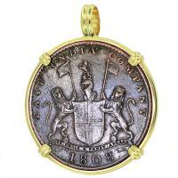 #9368 Admiral Gardner Shipwreck Coin Pendant