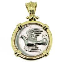 #9397 Sikyon Dove Triobol Pendant