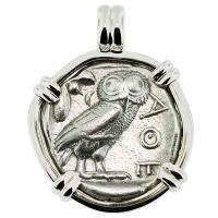 SOLD #9399 Owl and Athena Tetradrachm Pendant; Please Explore Our Greek Pendants For Similar Items.