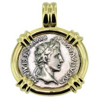 SOLD #9405 Caesar Augustus Denarius Pendant; Please Explore Our Roman Pendants For Similar Items.