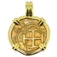#9407 Philip II One Escudo Pendant
