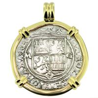 SOLD Golden Fleece Shipwreck 2 Reales Pendant; Please Explore Our Spanish Shipwreck Pendants For Similar Items.