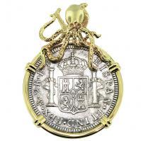 SOLD #9410 El Cazador Shipwreck 2 Reales Pendant; Please Explore Our Spanish Treasure Pendants For Similar Items.