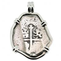 SOLD Spanish 1715 Fleet Shipwreck 4 Reales Pendant; Please Explore our Spanish Treasure Pendants for Similar Items.