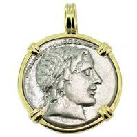 #9428 Apollo & Jupiter Denarius Pendant