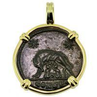 #9436 She Wolf & Roma Nummus Pendant