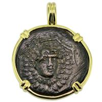 SOLD #9437 Medusa & Nike Pendant; Please Explore Our Greek Pendants For Similar Items.