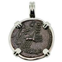 SOLD #9441 Constantine Hand of God Follis Pendant; Please Explore Our Roman Pendants For Similar Items.