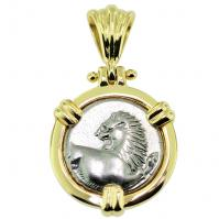 #9443 Greek Lion Hemidrachm Pendant
