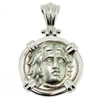 SOLD Helios Drachm Pendant; Please Explore Our Greek Pendants For Similar Items.