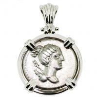 SOLD Diana Denarius Pendant; Please Explore Our Roman Pendants For Similar Items.