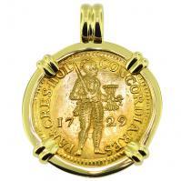 SOLD Vliegenthart Shipwreck Ducat Pendant; Please Explore Our Colonial European Pendants For Similar Items.