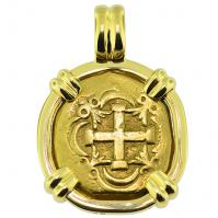 #9458 Philip V Two Escudos Doubloon Pendant