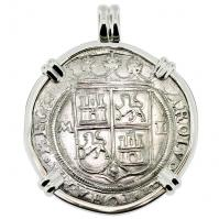 SOLD Golden Fleece Shipwreck 4 Reales Pendant; Please Explore Our Spanish Treasure Pendants For Similar Items.