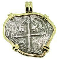 SOLD Maravillas Shipwreck 4 Reales Pendant; Please Explore Our Spanish Shipwreck Pendants For Similar Items.