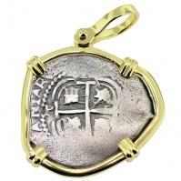 SOLD Consolacion Shipwreck 1 Real Pendant; Please Explore Our Spanish Treasure Pendants For Similar Items.