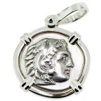 SOLD #9488 Alexander the Great Drachm Pendant; Please Explore Our Greek Pendants For Similar Items.