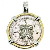 #9492 Janus & Roma Denarius Pendant