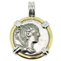 #9493 Diana Denarius Pendant