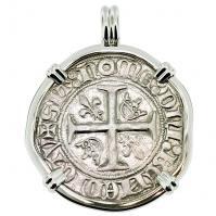 #9494 King Charles VI Blanc Guenar Pendant