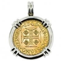 Portuguese 1000 Reis Pendant