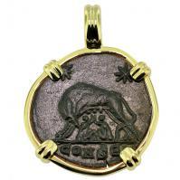 #9506 She Wolf & Roma Nummus Pendant